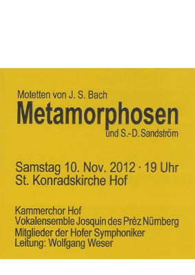 Metamorphosen 2012